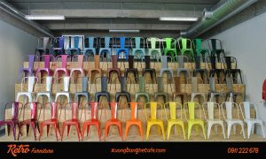 Ghế cafe sắt sơn tĩnh điện Tolix