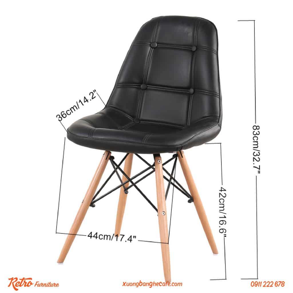 Ghế P07 được thiết kế vững chãi, êm ái, tạo cảm giác thoải mái khi sử dụng
