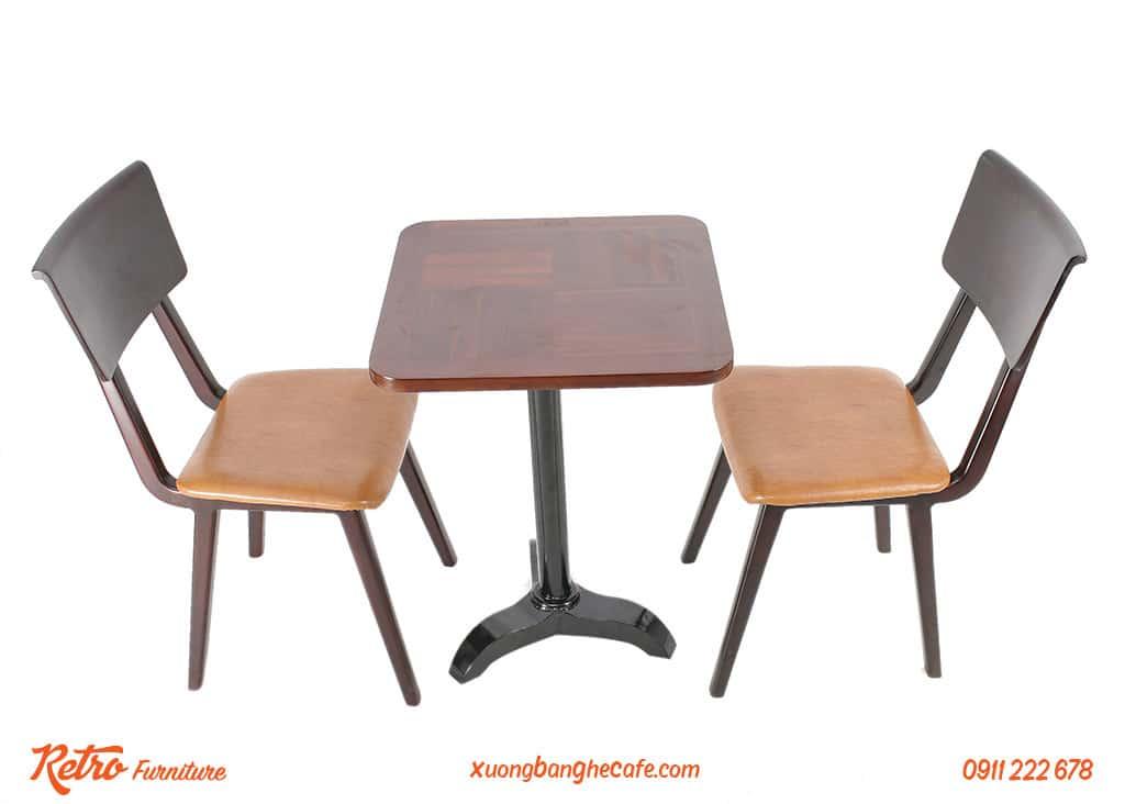 Bàn ghế gỗ cafe ngoài trời Altonio cao cấp