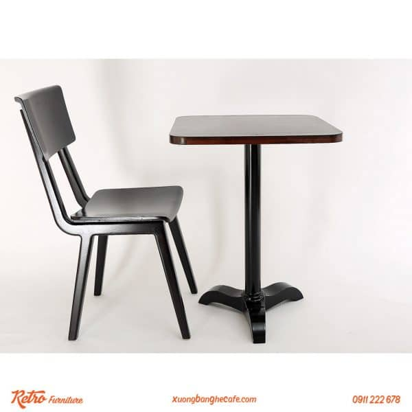 Bàn ghế gỗ cafe ngoài trời Altonio