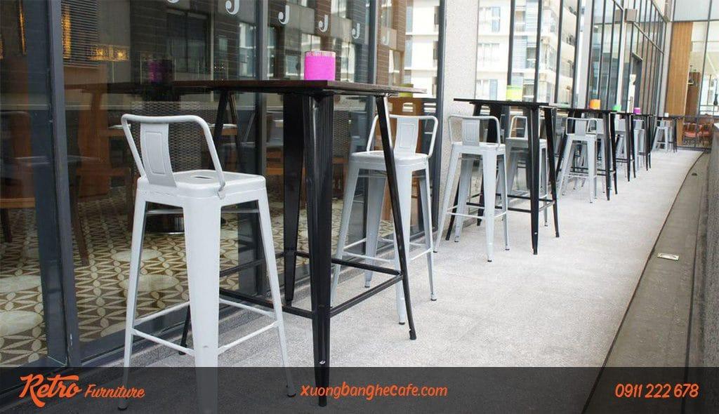 Ghế bar cafe F06 tay vịn tiện lợi