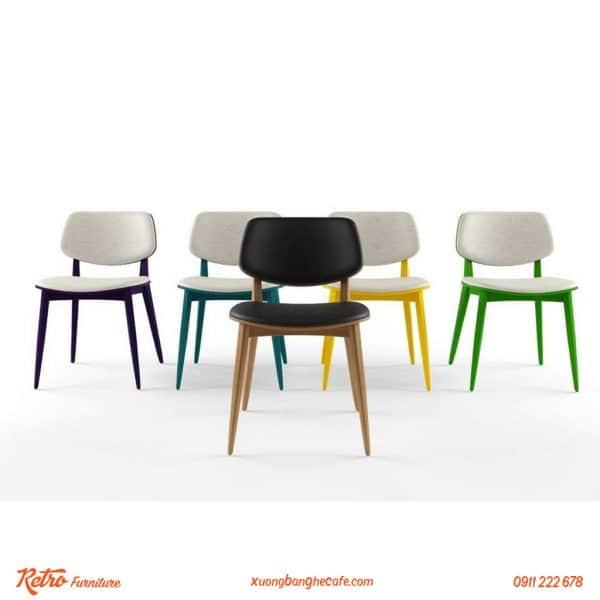 Ghế gỗ cafe PLC đa dạng màu sắc