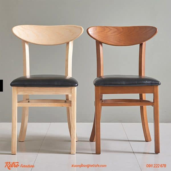 Ghế gỗ xuất khẩu Panda Walnut có 2 màu sang trọng