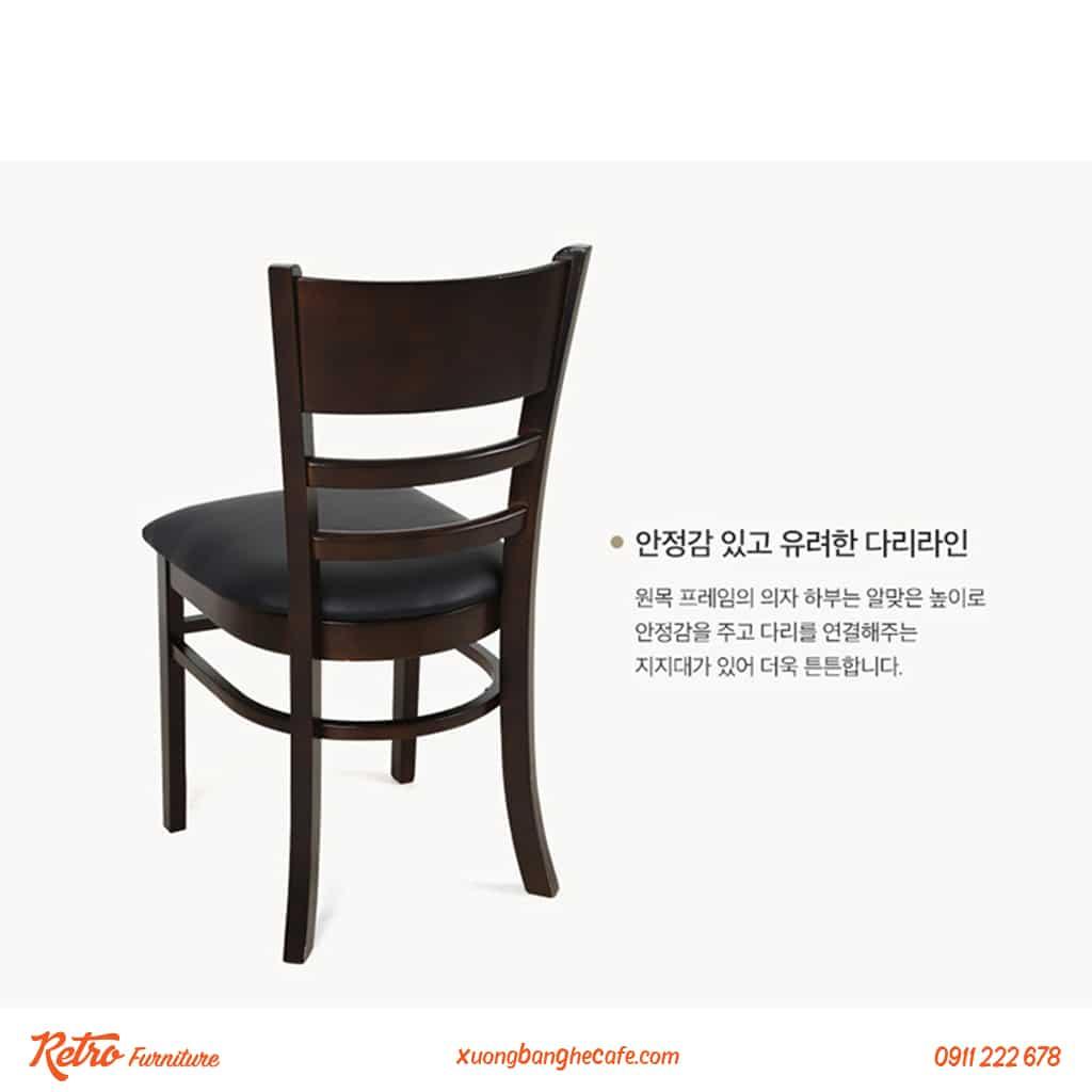 Mẫu ghế có màu đen ấn tượng