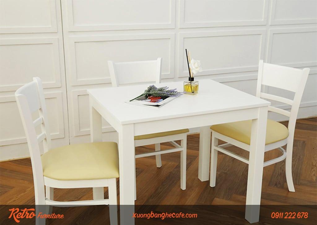 Ghế gỗ nhà hàng, quán cafe Cabina White sang trọng