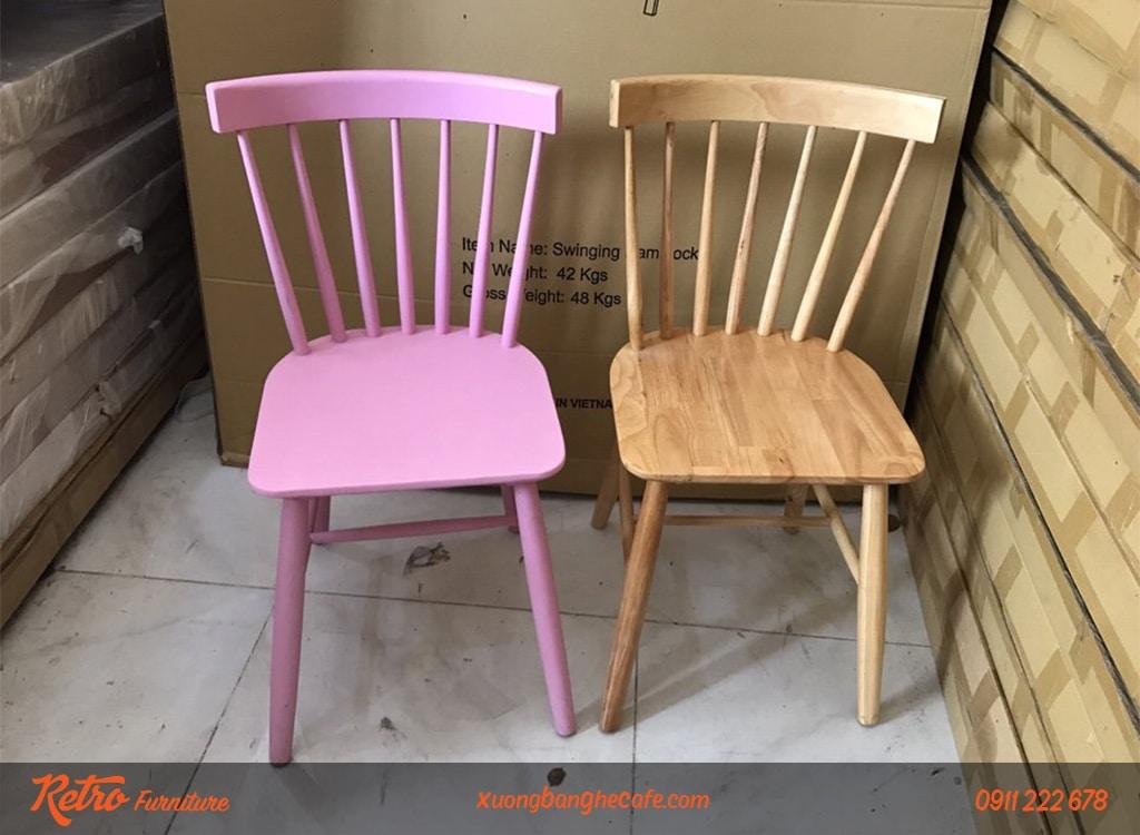 Ghế gỗ Pinnstol có màu sắc phong phú