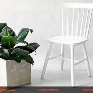 ghế gỗ quán trà sữa cafe