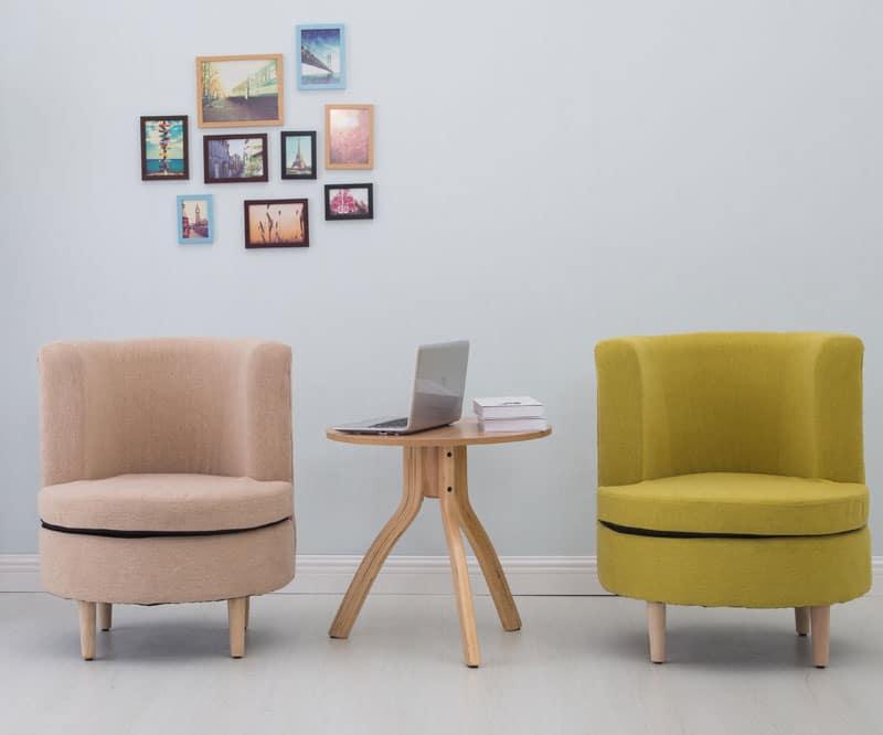 Ghế sofa bọc nệm màu sắc trang nhã
