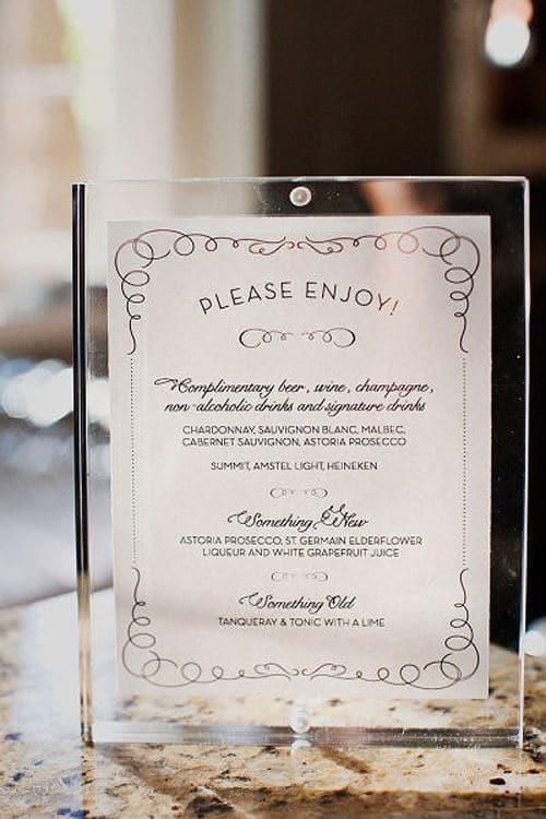 Mẫu menu in thủy tinh cho những quán cafe sang chảnh
