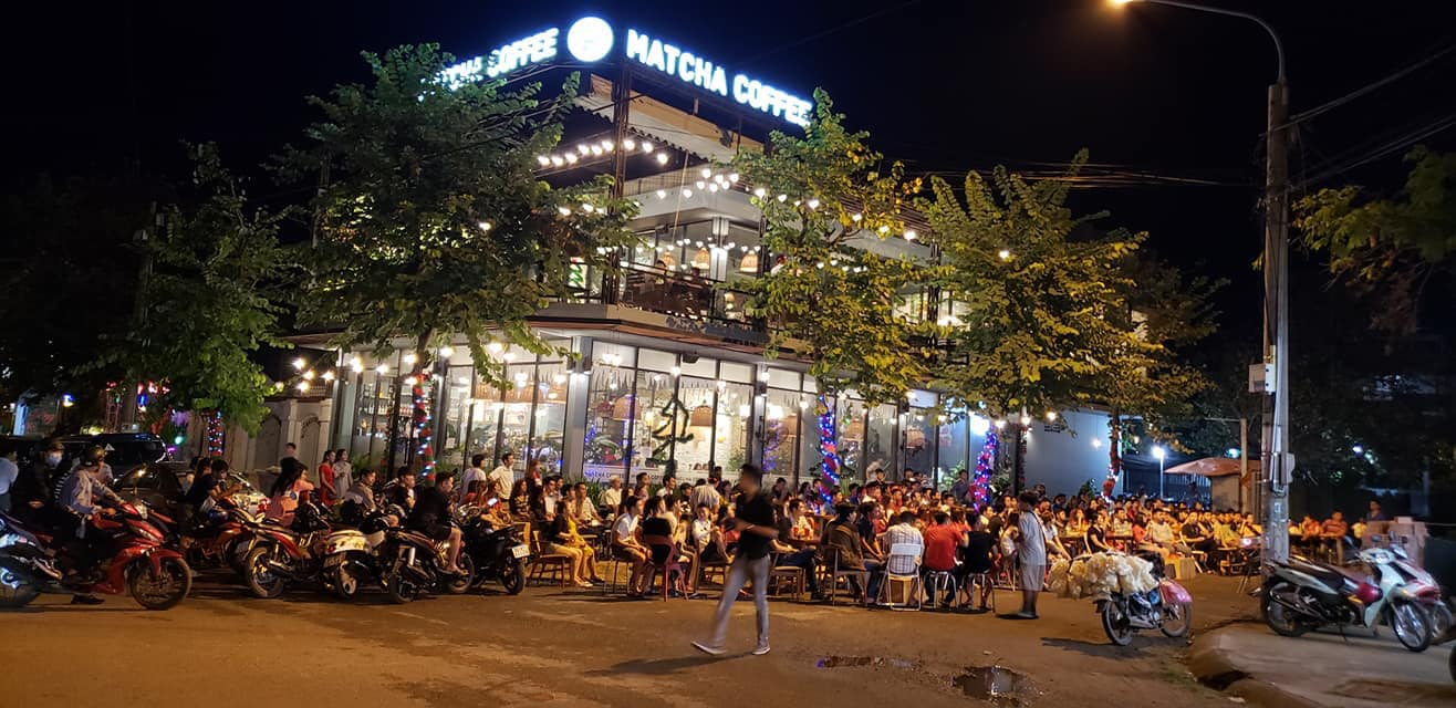 Mặt bằng quán cafe ở vị trí thuận lợi luôn đông khách