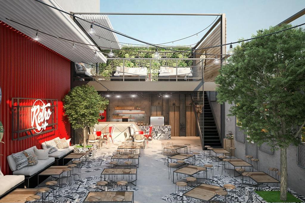 Quán cafe không gian mở giữa vườn cây xanh mát