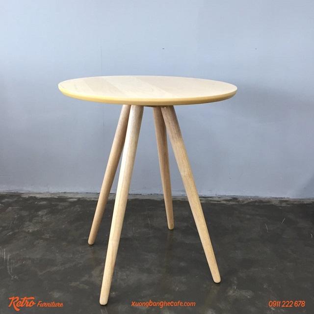 Bàn cafe gỗ tự nhiên T03 - sức hút từ sự đơn giản, mộc mạc và bình dị