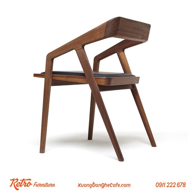 Ghế gỗ cafe lưng dựa C07 - mẫu bàn ghế gỗ cafe đặc biệt ấn tượng